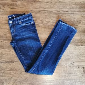 American Eagle Straight Leg Stretch Jeans 2Long